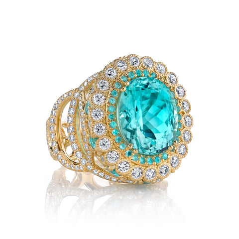 Erica Courtney's Easter Egg Paraiba ring