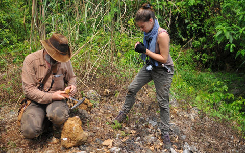 Victoria and Vincent Pardieu Hunting for Rubies on a Field Expedition in Vietnam in 2014.