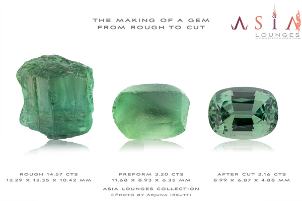 Example of the cutting of a Tourmaline