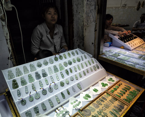 Jade market in Guangzhou - China