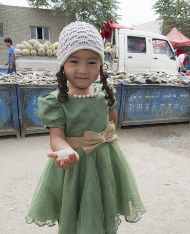 Kid in the Jade Market in Eastern China