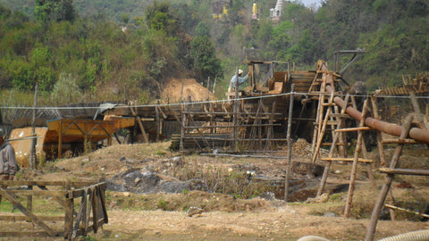 Picture of a gem mine in West Mogok, Burma, that Dmitry has invested in