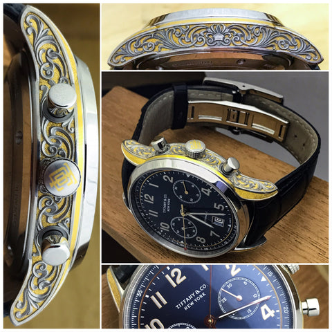 Jason´s art applied to a Tiffany´s & Co watch