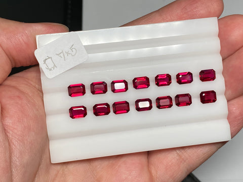 Here is a selection of calibrated rubies from Gemburi's arsenal
