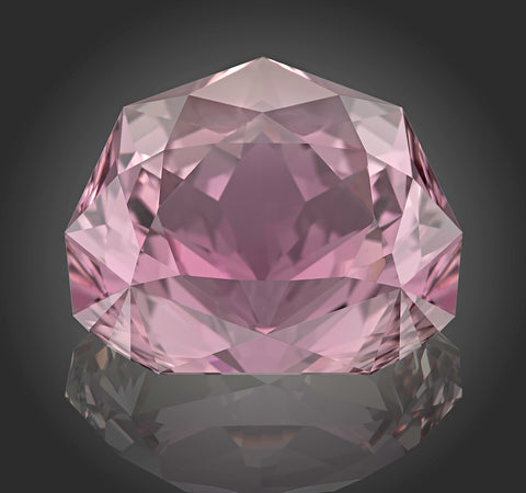 "LOTUS - Kunzite, 161.68 carats - From ""Philosophical Stone"" collection - cut by Victor Tuzlukov"