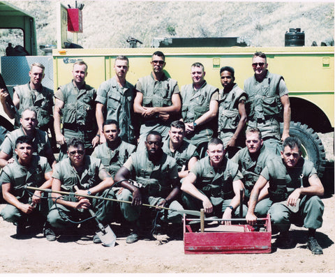 Manny and his platoon in Guantanamo Bay before it was trendy in the 1990's