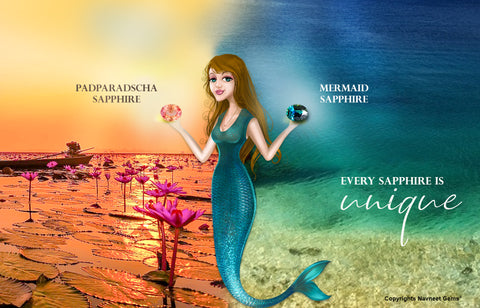 """Padparadscha Sapphires and """"Mermaid"""" Sapphires are two of of Navneet's Favourites"""