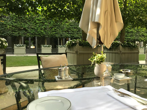 The Ritz inner Garden, a coquette place for a meeting in your typical french elegance