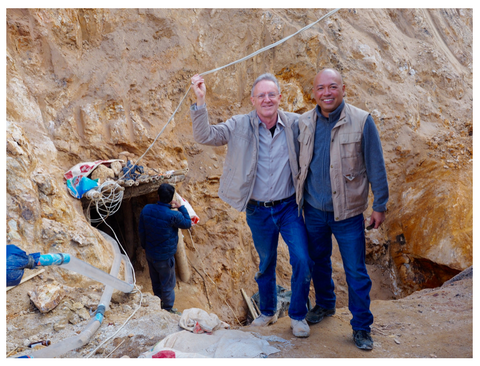 Jeff Bergman and Ko Choo at his Baw Mar Sapphire mine in Burma