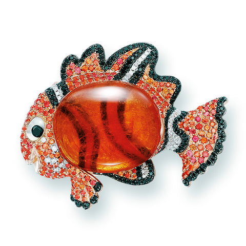 Clown Fish Brooch by Stewart Young - photo credit: Tiancheng International