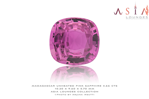Fine example of unheated Pink Sapphire from Madagascar