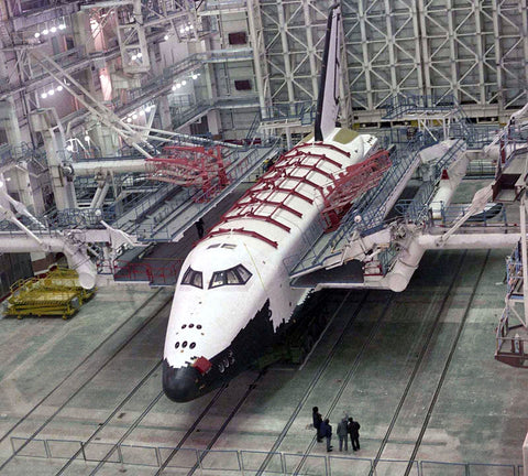 Buran space shuttle at Baikonour Space center (Kazakhstan) where Dmitry could have ended up working if not for the gems