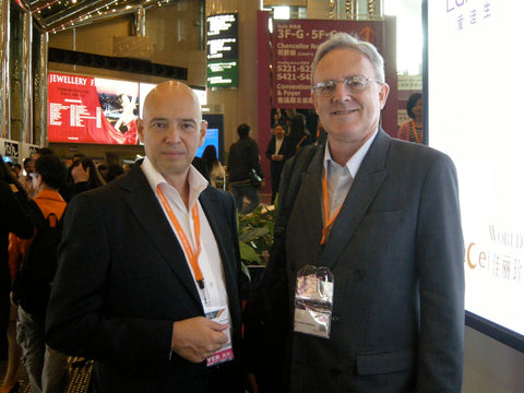 Dmitry Zyubenko and Jeffery Bergman at the Hong Kong Gem Show