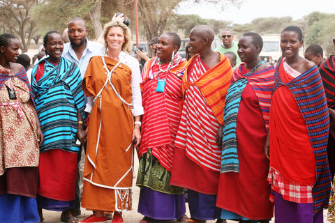 Hayley Henning with the ladies of Maasai Ladies Project - photo credit: Hayley Henning