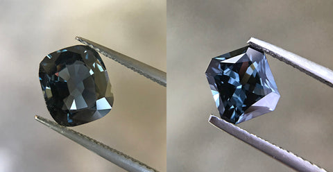 "A Burmese Grey Spinel that has been recut from a ""native cut"""