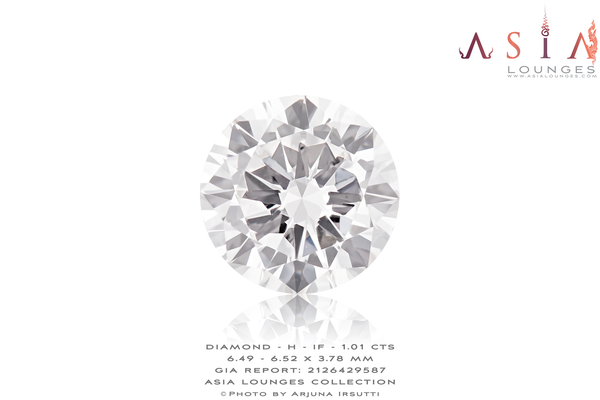 Diamond GIA Certified H-IF 1.01 cts - Asia Lounges