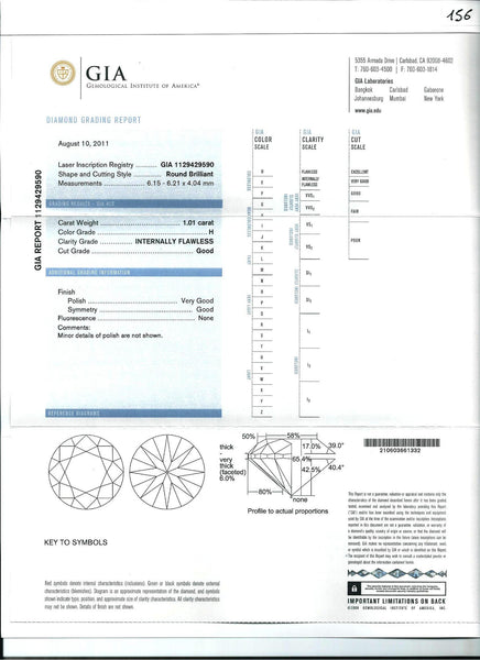 Diamond H-IF GIA Certified 1.01 cts - Asia Lounges