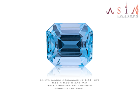 "A stunning example of a deeply saturated Brazilian ""Santa Maria"" blue Aquamarine"