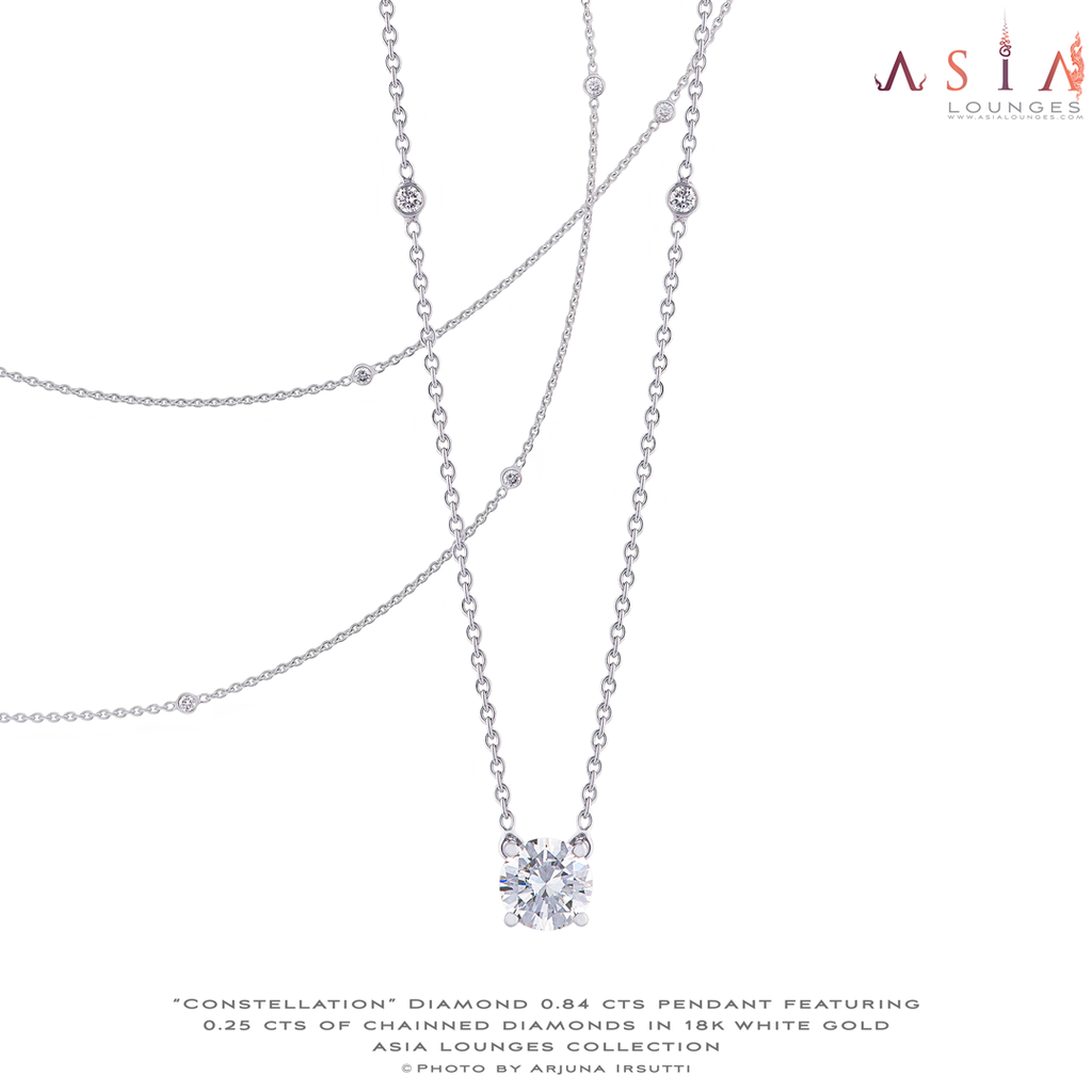 Constellation Diamond Necklace in 18k white gold - Asia Lounges