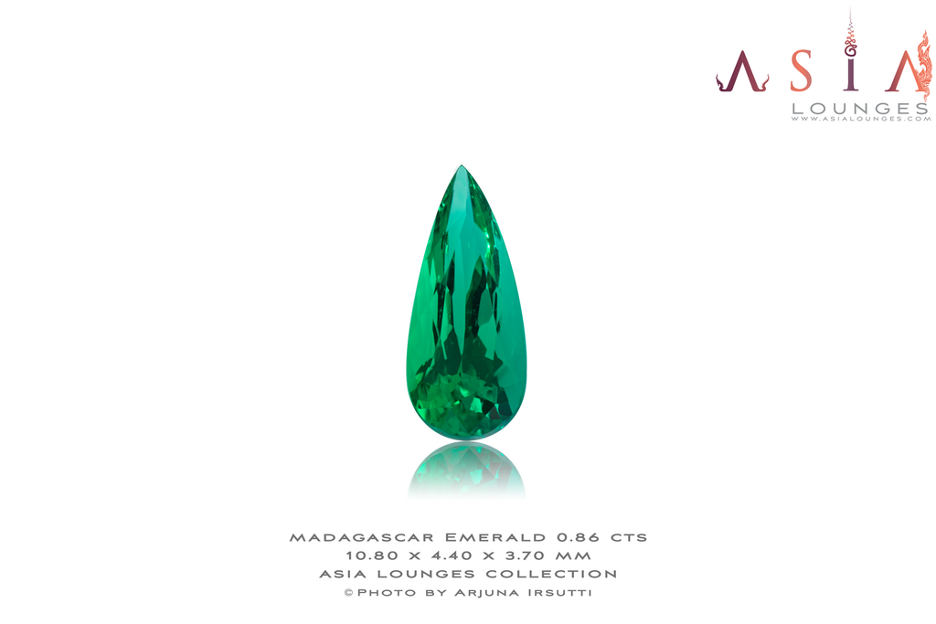 Madagascar Emerald Pear 0.86 cts - Asia Lounges