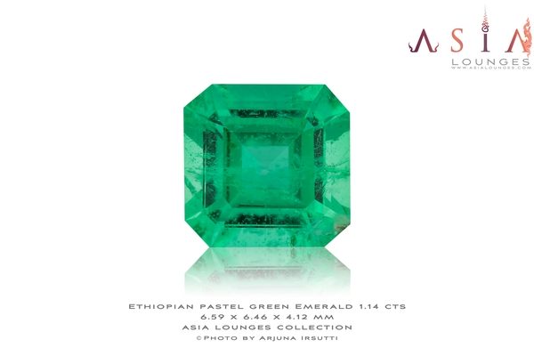 Ethiopian Pastel Green Emerald 1.14 cts - Asia Lounges