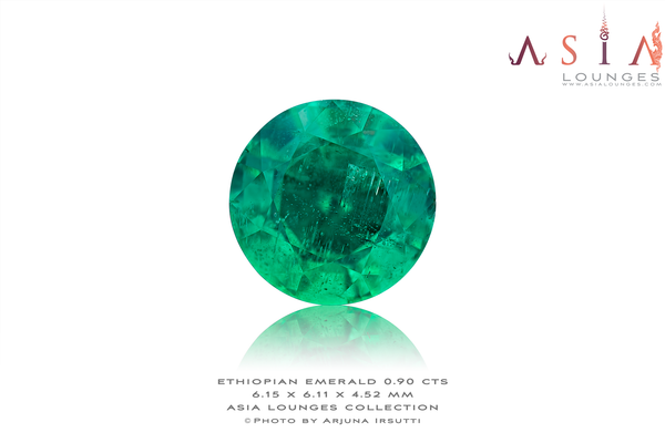 Fine Ethiopian Untreated Emerald 0.90 cts - Asia Lounges