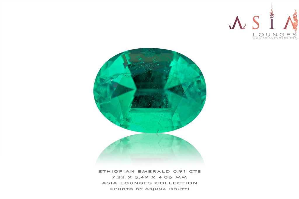 Superbe Minor Oil Ethiopian Emerald 0.91 cts - Asia Lounges
