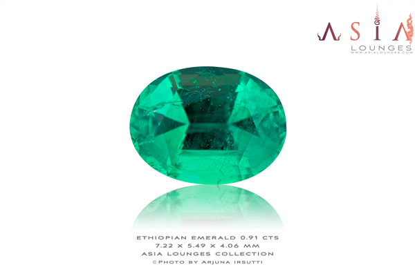 Superbe Minor Oil Ethiopian Emerald 0.91 cts
