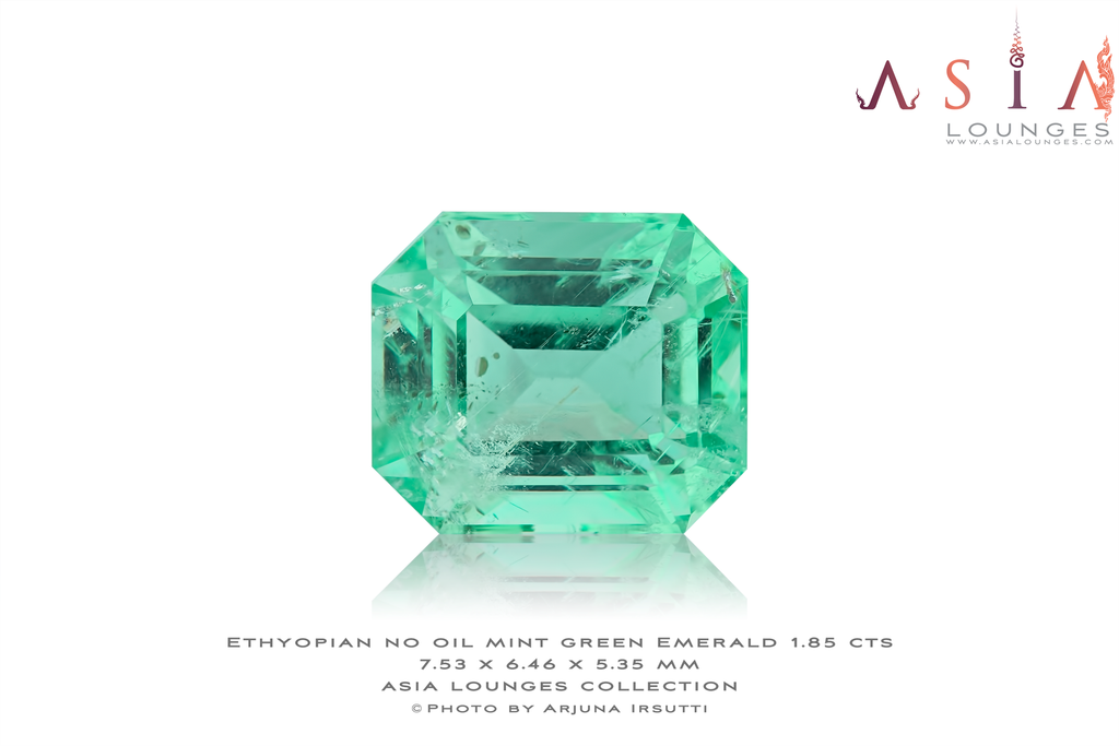 No Oil Mint Green Ethyopian Emerald 1.85 cts - Asia Lounges