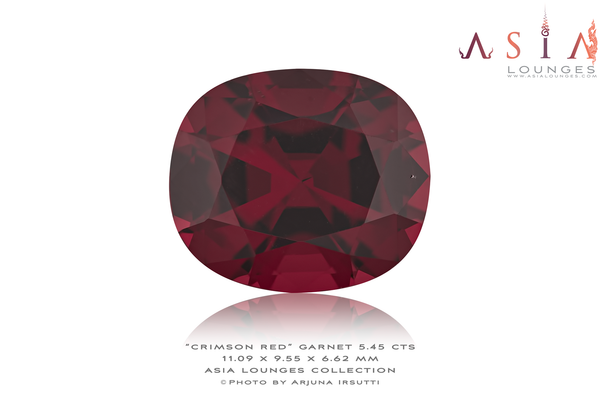 Tanzanian Crimson Red Garnet 5.45 cts - Asia Lounges