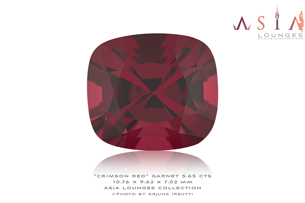 Tanzanian Crimson Red Garnet 5.65 cts - Asia Lounges