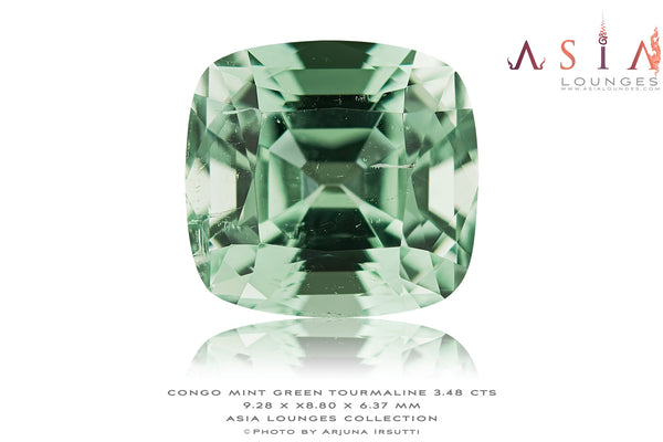 Minty Green Congo Tourmaline 3. 48 cts - Asia Lounges