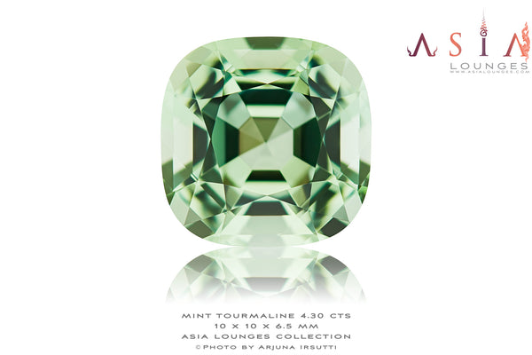 Refreshing Mint Green 4.30 cts Namibian Tourmaline - Asia Lounges
