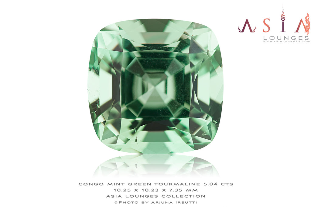 Mint Green Congo Tourmaline 5.04 cts - Asia Lounges