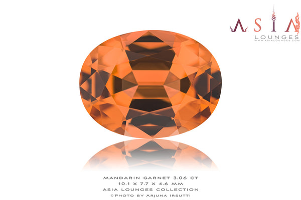 Delicious 3.06 cts Nigerian Mandarin Garnet - Asia Lounges