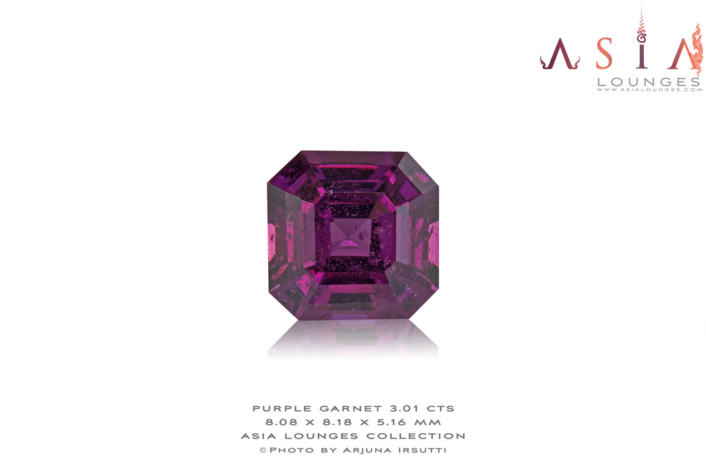 Mozambique Purple Garnet 3.01 cts - Asia Lounges