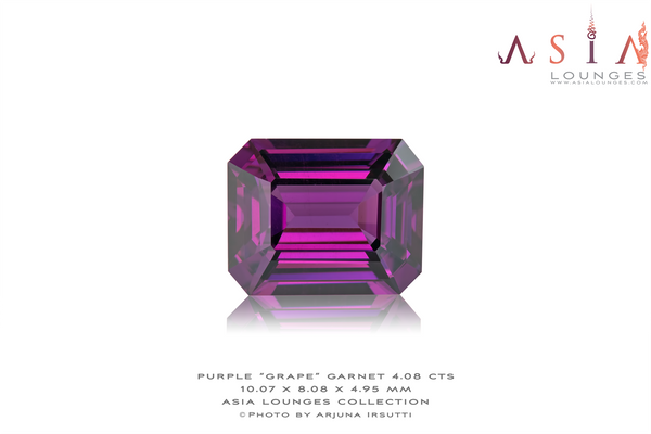 "Mozambique Purple ""Grape"" Garnet 4.08 cts - Asia Lounges"