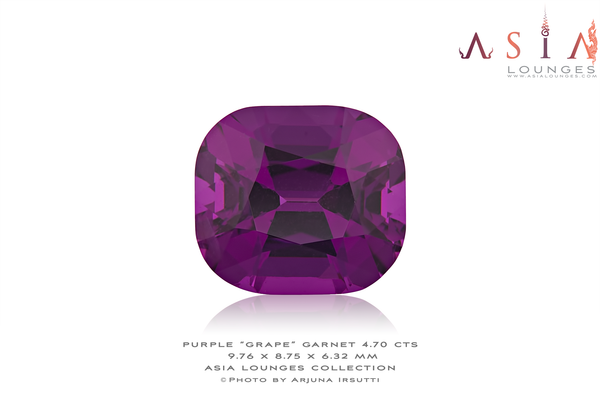 "Mozambique Purple ""Grape"" Garnet 4.70 cts - Asia Lounges"