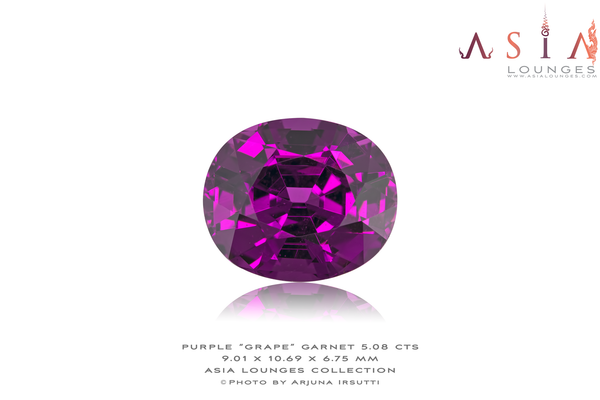 "Mozambique Purple ""Grape"" Garnet 5.08 cts - Asia Lounges"