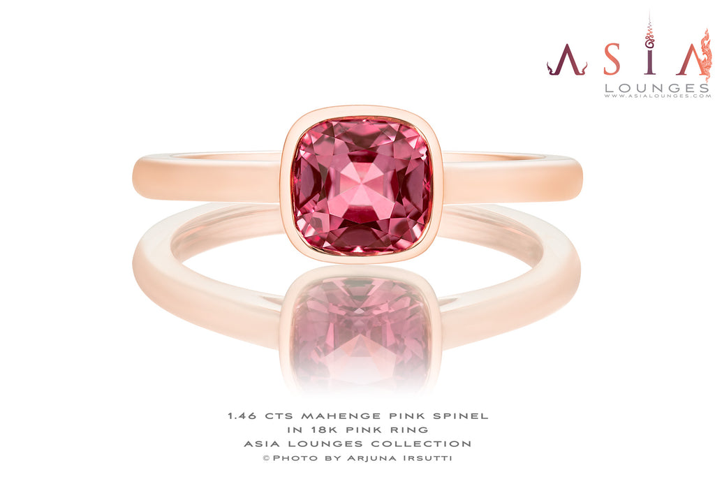 Lovely 1.46 cts Salmon Pink Spinel in 18k Pink Gold - Asia Lounges