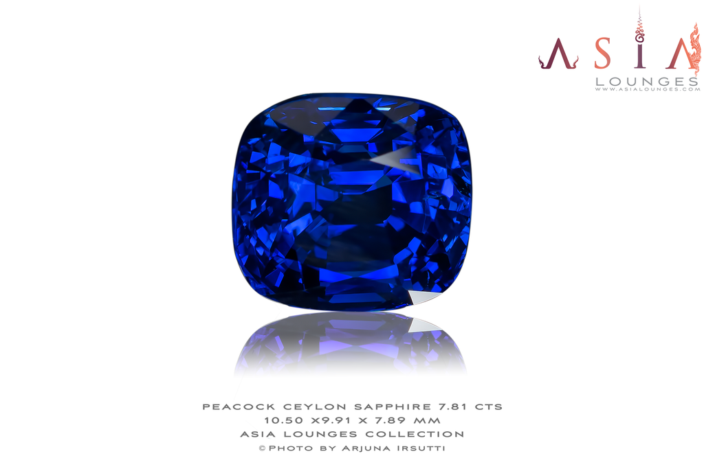 Heated Peacock Blue Ceylon Sapphire 7.81 cts - Asia Lounges