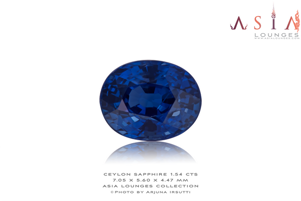 Heated Ceylon Sapphire 1.54 cts - Asia Lounges