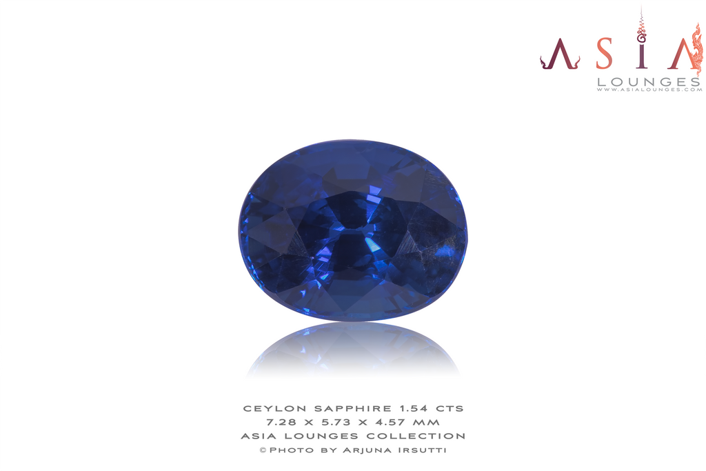 Heated Blue Ceylon Sapphire 1.54 cts (b) - Asia Lounges
