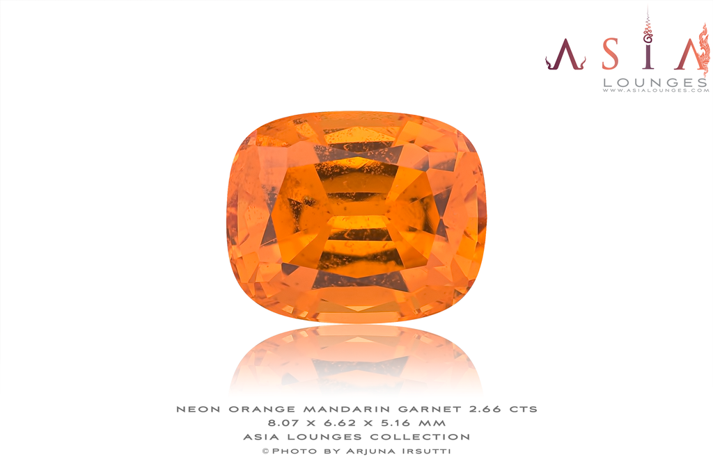 Neon Orange Mandarin Garnet 2.66 cts - Asia Lounges