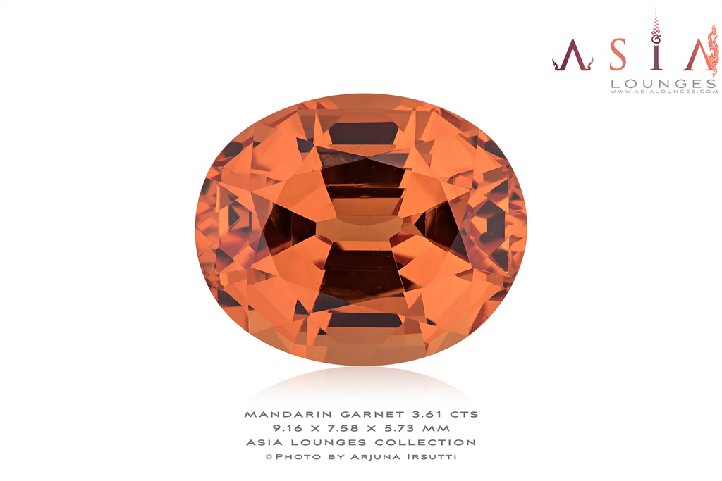 Flawless Mandarin Garnet 3.61 cts - Asia Lounges