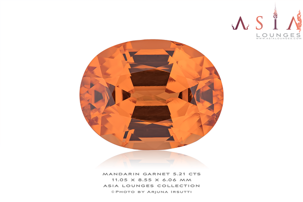 Flawless Mandarin Garnet 5.21 cts - Asia Lounges