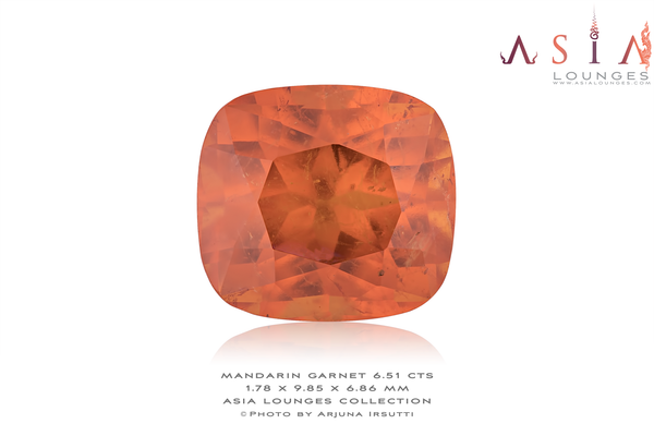 "The ""Sun Shard"" Mandarin Garnet 6.51 cts - Asia Lounges"