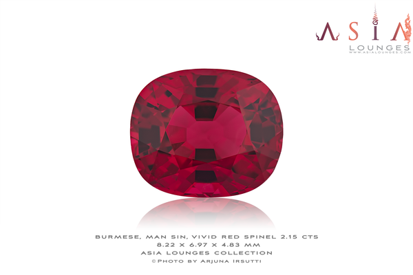 Burmese, Natural, Man Sin Vivid Red Spinel 2.15 cts - Asia Lounges
