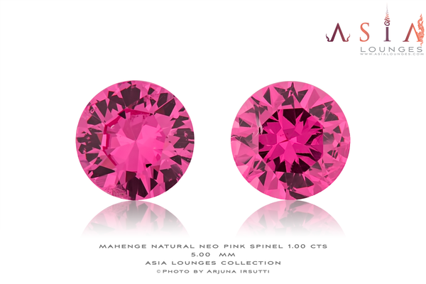 Tanzanian, Mahenge, Neon Pink Spinel Pair 1.00 cts - Asia Lounges