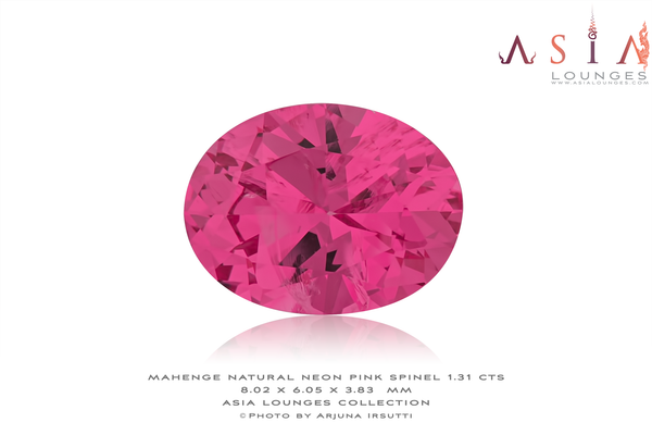 Tanzanian, Mahenge, Natural Neon Pink Spinel 1.31 cts - Asia Lounges